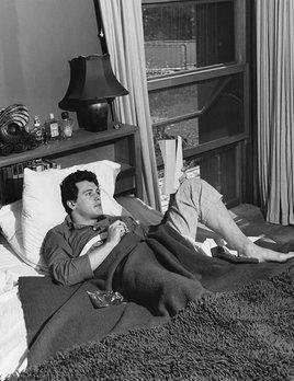 Rock Hudson at his North Hollywood home 1952 - Sid Avery