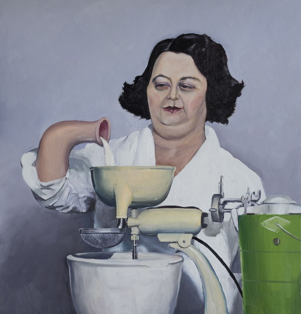 The Milk Maid 2017 - James King - 44x42cm - Oil on Board