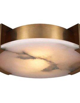 Kelly Wearstler Kelly Wearstler - Melange Large Flush Mount Lamp in Antique -Burnished Brass with Alabaster - <br /> H 12.7cm W 43.18 cm