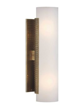 Kelly Wearstler Kelly Wearstler - Precision Cylinder Sconce - Antique Burnished Brass with White Glass