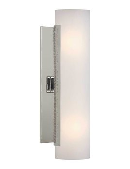 Kelly Wearstler Kelly Wearstler - Precision Tube Sconce - Polished Nickel with White Glass