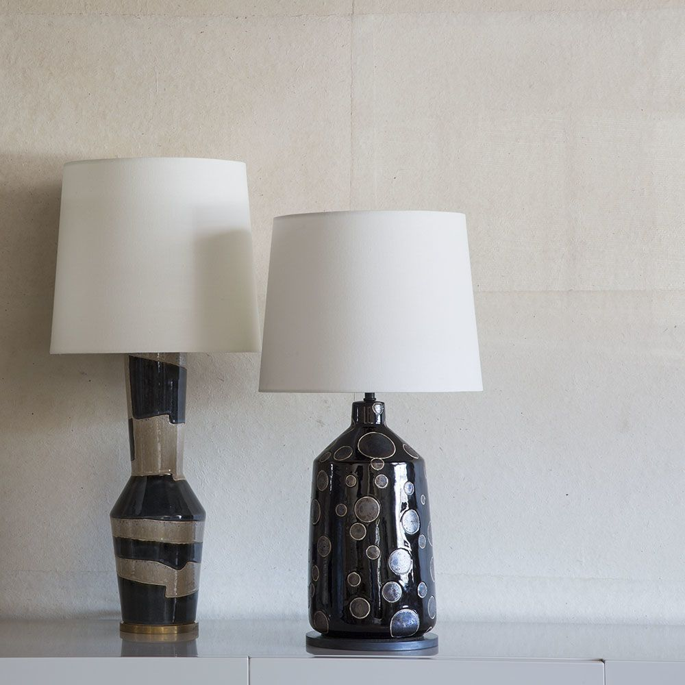 Kelly Wearstler Kelly Wearstler - Bijou Table Lamp - Black and Crystal Bronze Dot