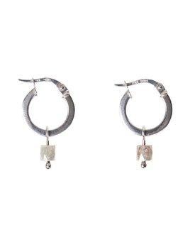 Olly & Rose - Cigar Diamond and 18ct White Gold Earrings - Australia