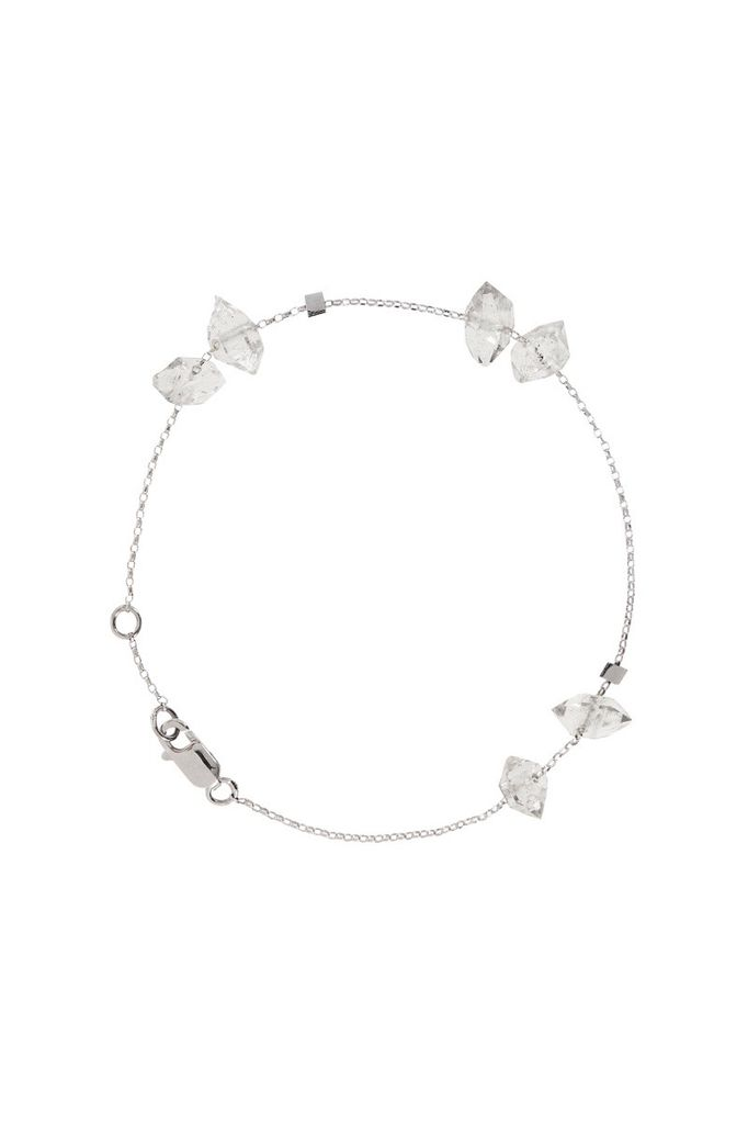 Olly & Rose - 6 Herkimer Diamond and 18ct White Gold Bracelet - Australia