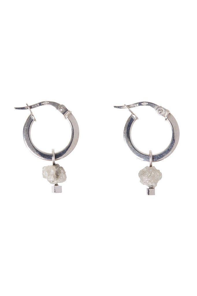 Olly & Rose - Rough Diamond and 18ct White Gold Earrings - Australia