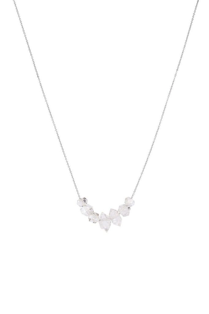 Olly & Rose - 7 Herkimer Diamond and 18ct White Gold Necklace - Australia