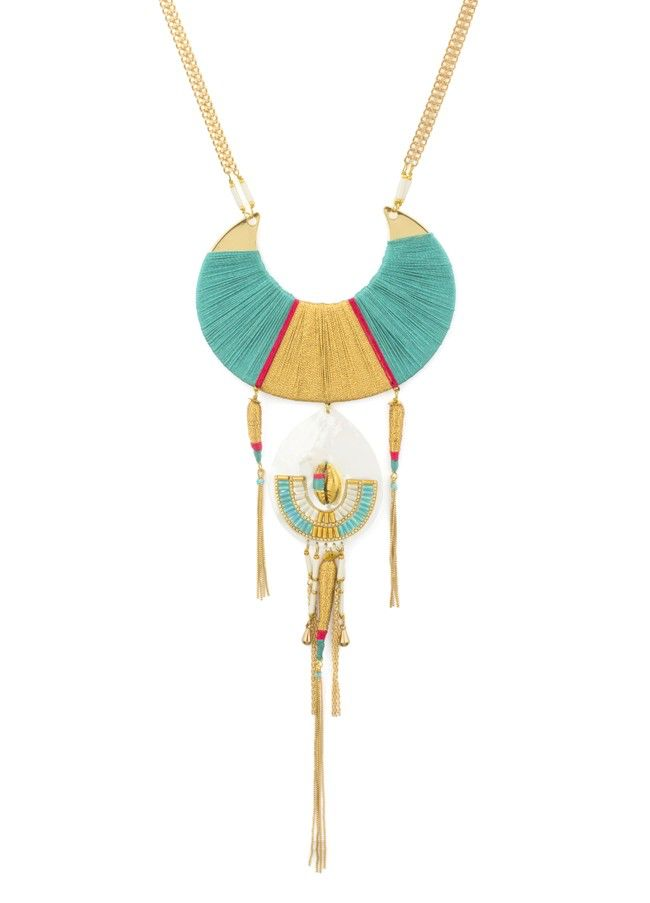 Satellite Luxury Necklace - Turquoise - 14ct gold plated - Paris