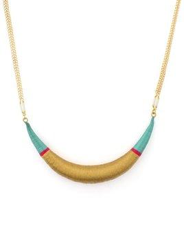 Satellite Original Necklace - Turquoise - 14ct gold plated - Paris