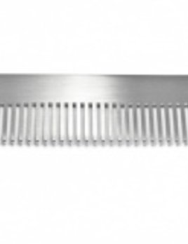 Chicago Comb Co - Laser Cut Stainless Steel Comb with Custom Leather Sheath