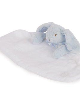 tartine et chocolate Tartine et Chocolat - Rabbit Comforter Blanket - ecru with blue trim
