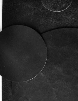 Michael Verheyden Michael Verheyden - Placemat - Black Fokker Leather Round Placemat - 40cm diameter - Belgium