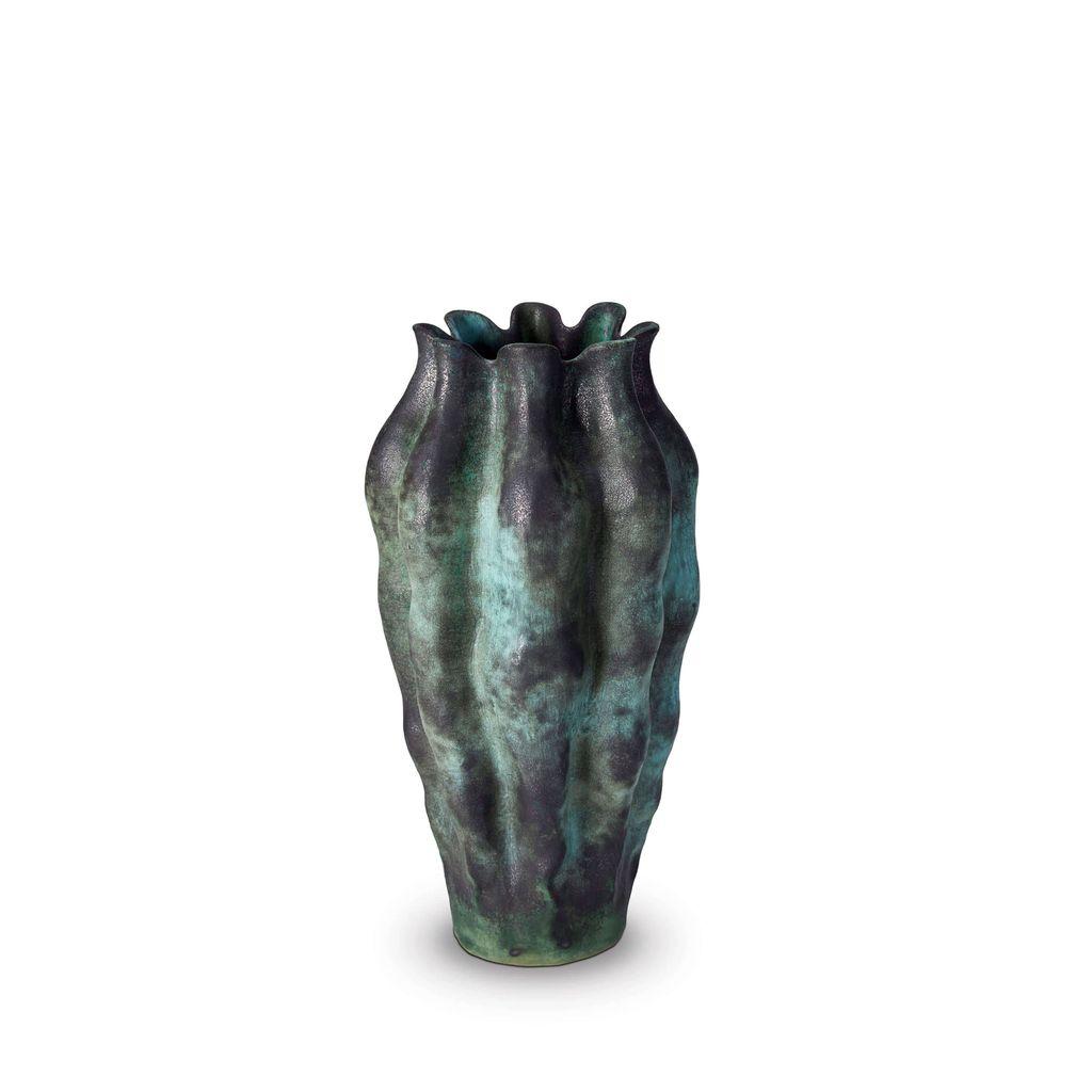 L'Objet L'Objet - Cenote Vase - Large - Green - 17 D x 36 H cm