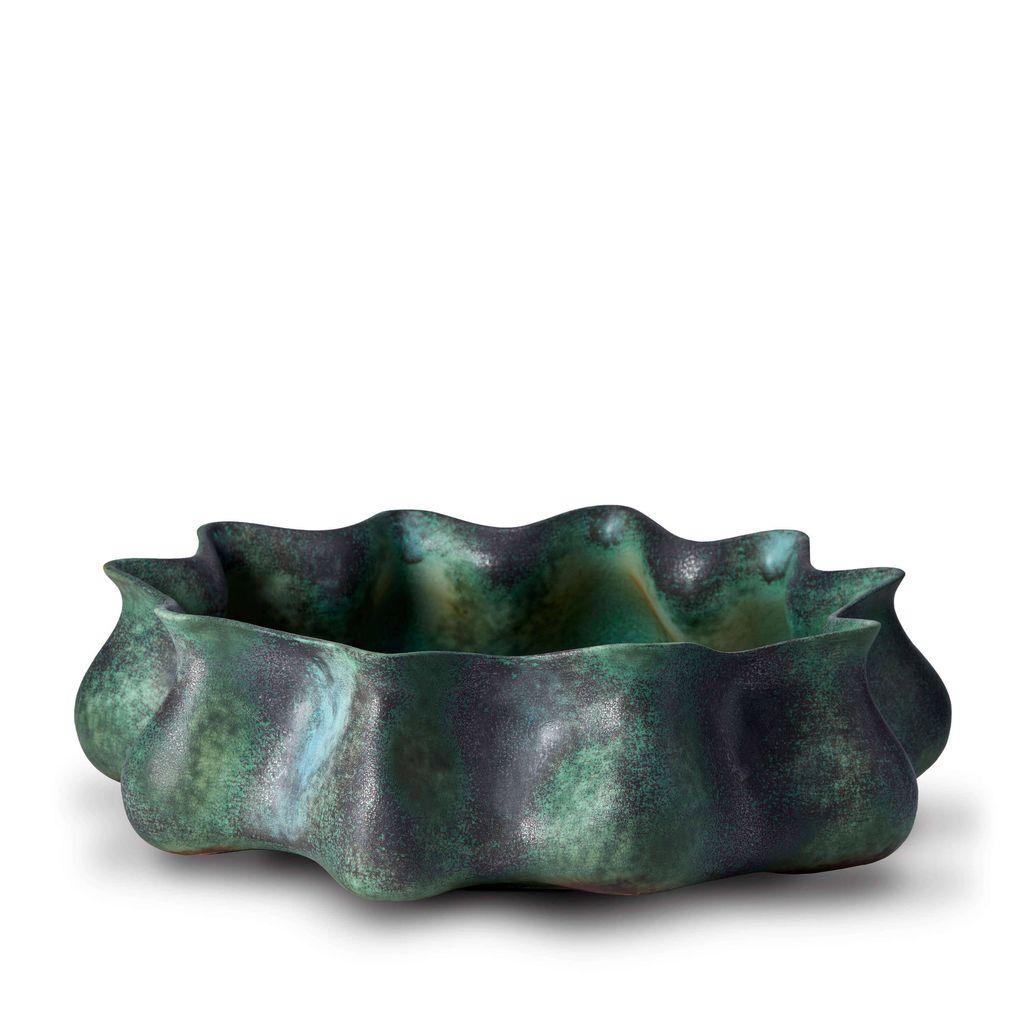 L'Objet L'Objet - Cenote Bowl - Large - Green - 47 D x 17 H cm