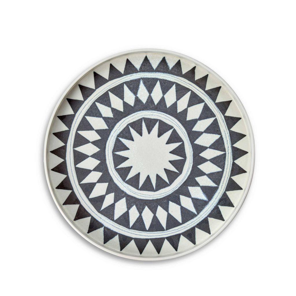 L'Objet L'Objet - Tribal Diamond Round Platter - Medium - 33 D x 4 H cm