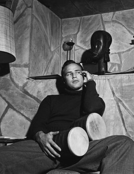 Marlon Brando at his Beverly Glen home in Los Angeles 1953  - Sid Avery
