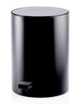 TE 50 Pedal Bin - Round - Waste Bin - Soft Close - chrome, matte white, matte black - H32x20x20cm