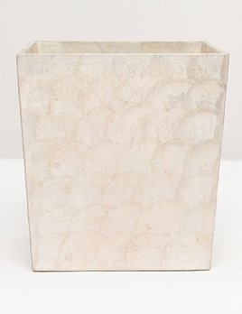 """Andria - Wastebasket Rectangular - Tapered - 10""""L x 8""""W x 11""""H - Pearlized"""