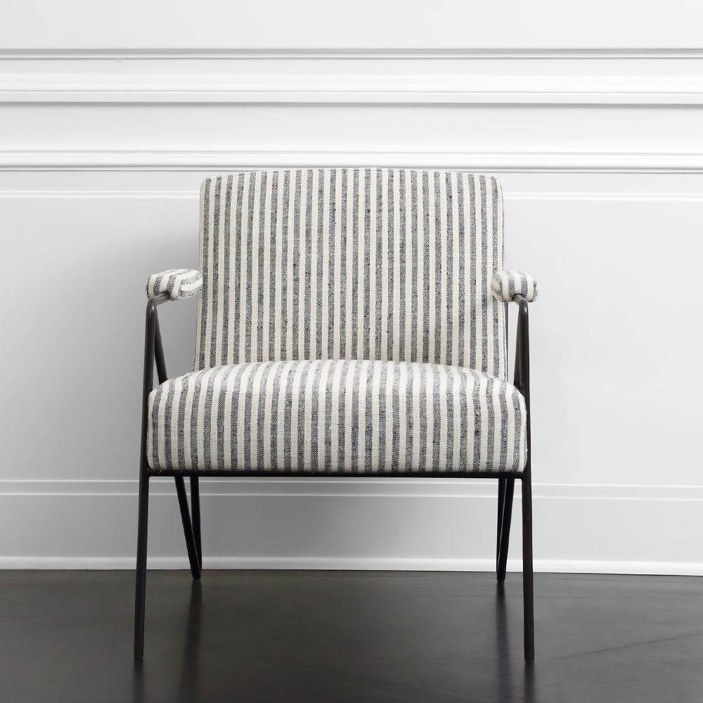 Kelly Wearstler Kelly Wearstler - Emmett Lounge Chair - Swift Thunder