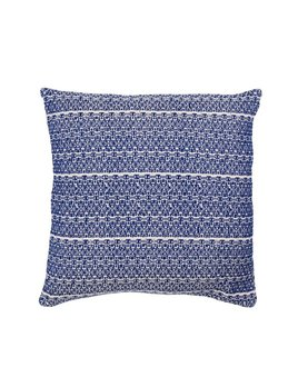 Aniza Aniza Cushion - Royal Blue and Cream - 45x45cm