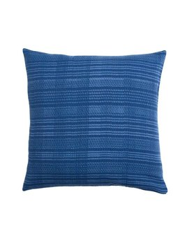 Aniza Aniza Cushion - Royal Blue and Cream - 50x50cm