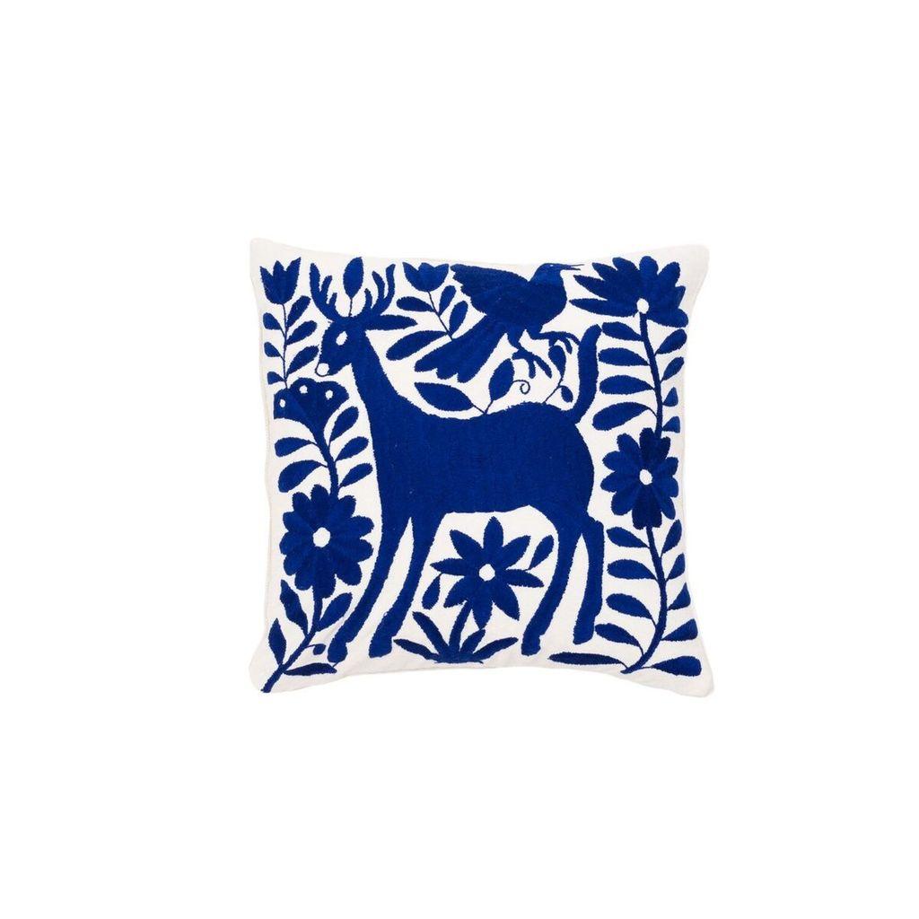 Aniza Aniza Cushion - Blue and Cream - 40 x40cm