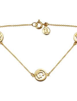 Luke Rose Me & My Unity 3 Initial Bracelet by Luke Rose - 14ct Yellow Gold Diamond Cut Chain with 9ct Yellow Gold Letters - Select your own Initials