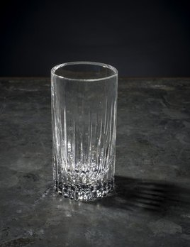 BECKER MINTY BECKER MINTY - Linear Cut High Ball Tumbler - Clear Crystal Glass