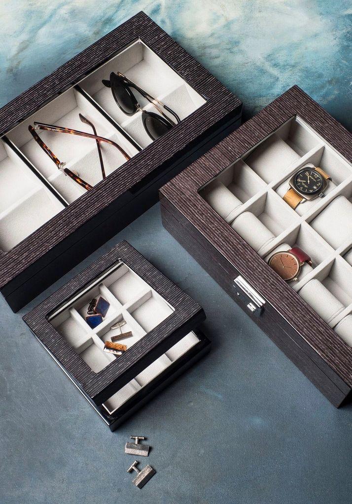 BECKER MINTY BECKER MINTY - Black Apricot Veneer Sunglass / Optical Storage Box.