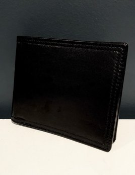 cf8f04877c Luxury Calf Leather Bifold Wallet with Coin Compartment - Black - Germany