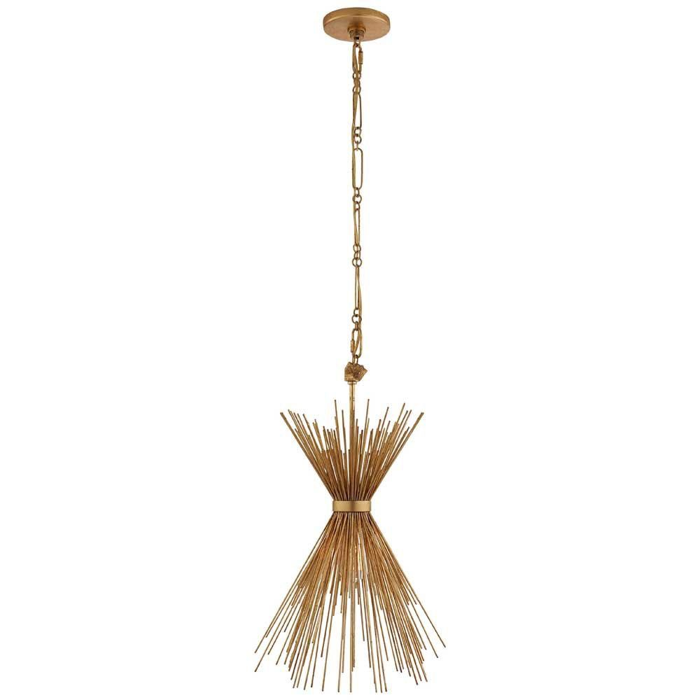 Kelly Wearstler Kelly Wearstler - Strada Small Chandelier in Gild - Fixture Height: 23.75&quot;<br /> Width: 9.25&quot;<br /> Canopy: 4.75&quot; Round