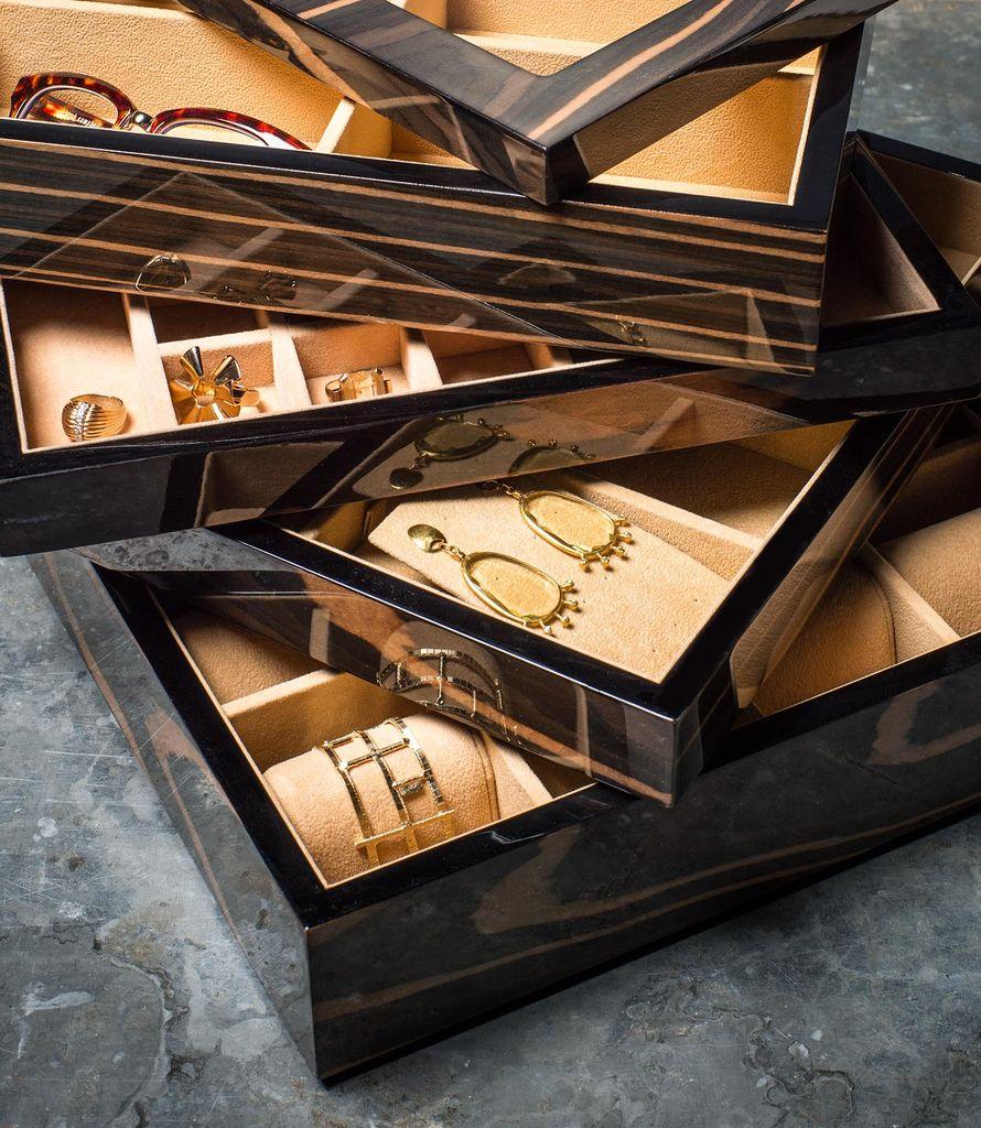BECKER MINTY - Ebony - Bow Tie and Sunglass Tray - Modular Jewellery and Accessory Tray