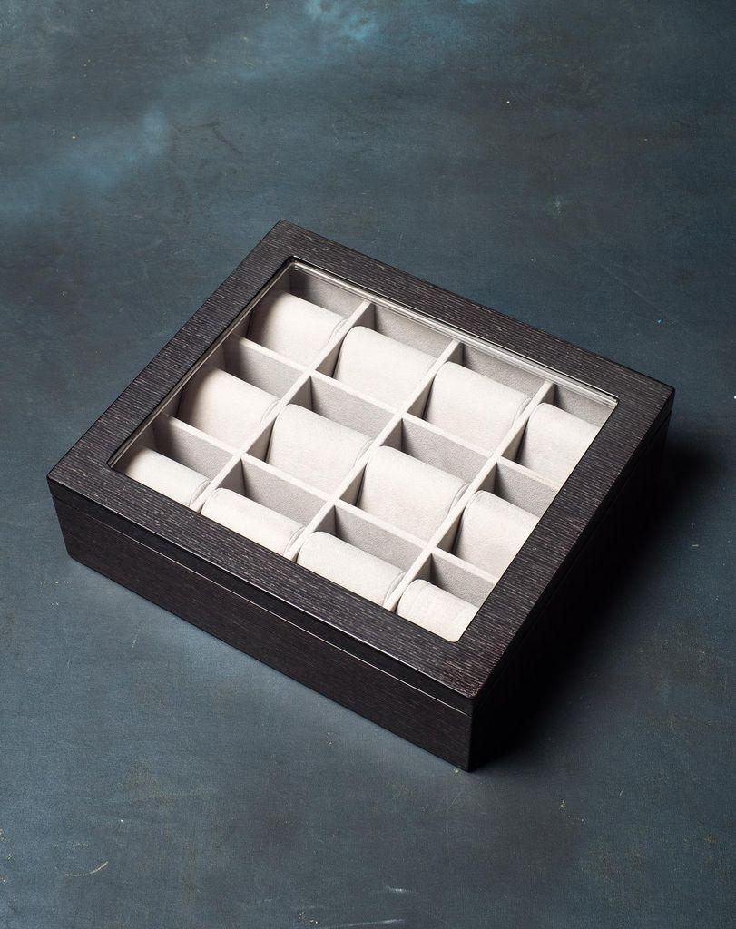 BECKER MINTY - Black Apricot - 12 Watch Tray (35x30x8cm) - Modular Jewellery and Accessory Tray
