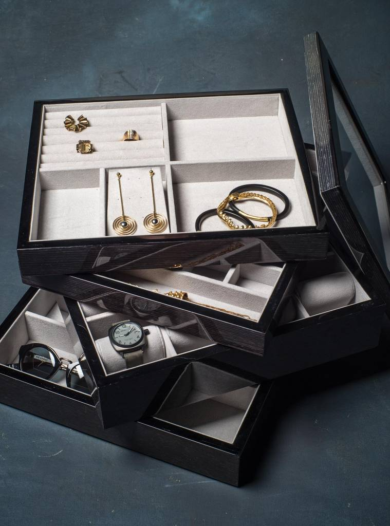 BECKER MINTY - Black Apricot - Bow Tie and Sunglass Tray - Modular Jewellery and Accessory Tray