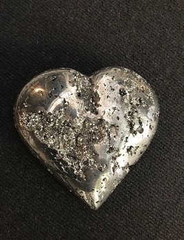 XL Pyrite Heart - Dia22cm Depth 7cm