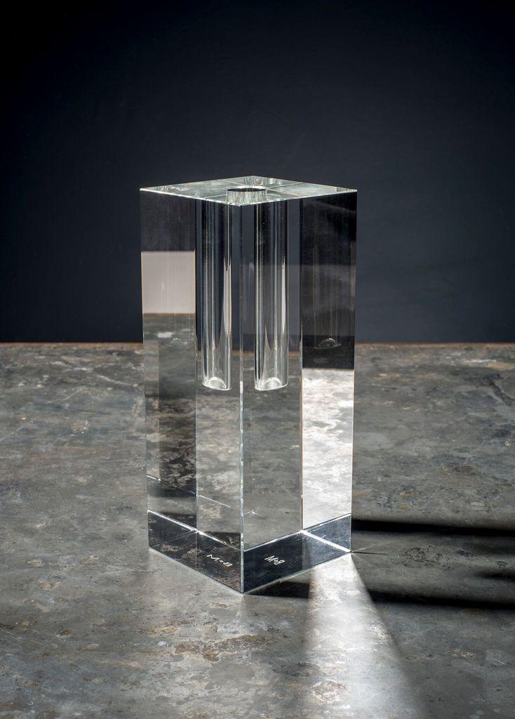 BECKER MINTY BECKER MINTY Cubik Collection - Crystal Glass Bud Vase - Short - 8x8x20cm