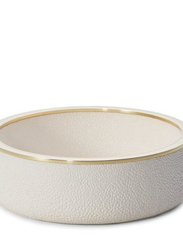 AERIN - Embossed Shagreen Wine Coaster - Cream - 12x4cm