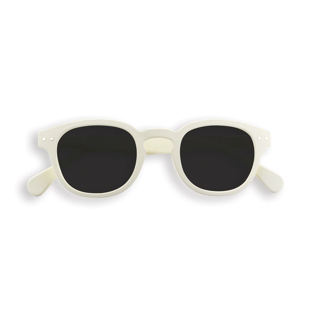 Until/See Concept IZIPIZI - Sun Junior #C - Sunglasses For Kids- Limited Editions - White Clay