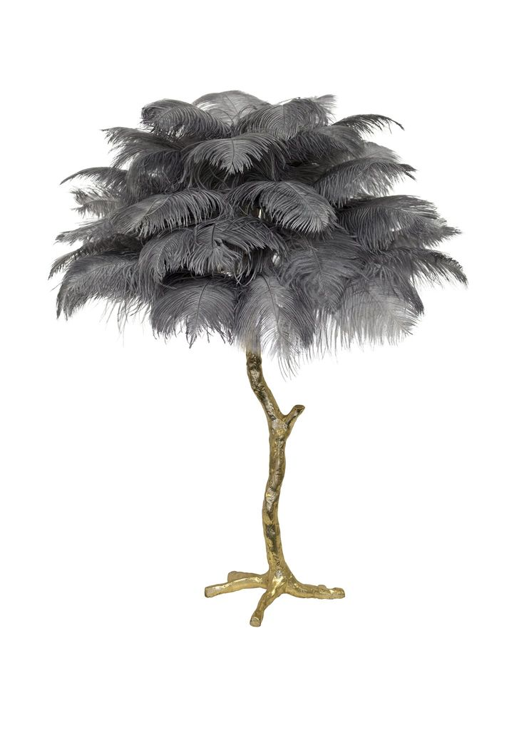 Aynhoe The Ostrich Feather Mini Table Lamp