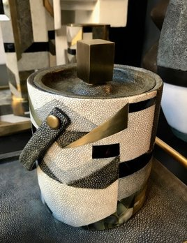 KIFU KIFU Paris - Ice Bucket in Shagreen and Black Shell