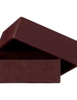 AYTM Theca Leather Box - Bordeaux - Square - H6x17x17cm