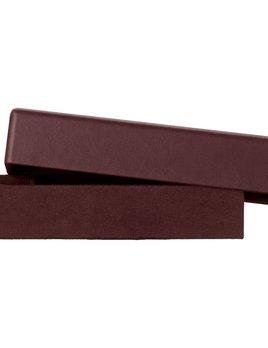 AYTM Theca Leather Box - Bordeaux - Rectangular Deep - H5x8.5x23.5cm
