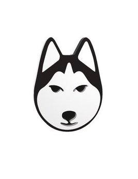 BECKER MINTY Husky - Dog Brooch - Laser Cut Plexiglass - From Russia with Love