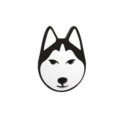 BECKER MINTY Husky - Dog Brooch - Laser Cut Plexiglass - From Russia with Love