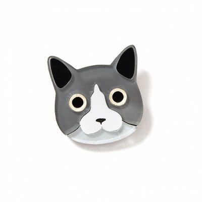 BECKER MINTY Cat Brooch - Laser Cut Plexiglass - From Russia with Love