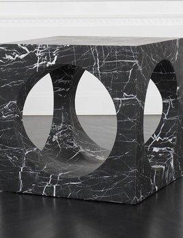 "Kelly Wearstler Kelly Wearstler - Selby Side Table - Negro Marquina Marble - 24"" W x 24""H x 24""D Hole Diameter: 18"""