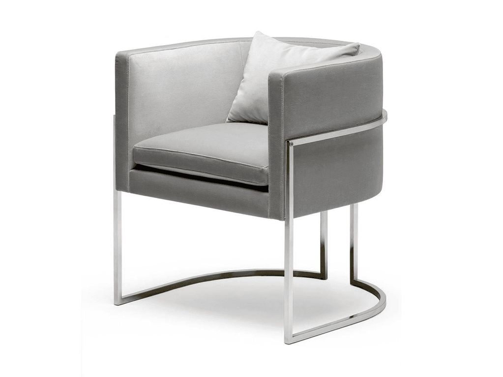 Julius Chair - Stainless Steel and Velvet - Various Finishes and Fabric Colours available - W62cm D60cm H76cm