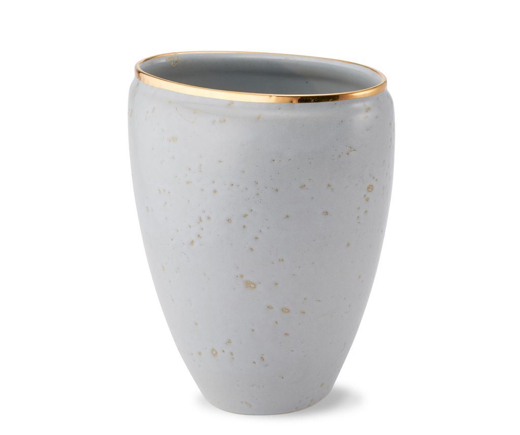 """AERIN - Paros Vase - Medium - Ceramic - Dimensions: 6.3""""l x 5""""w x 7.5""""h - Made in Italy"""