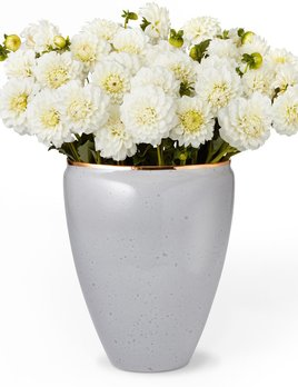 "AERIN - Paros Vase - Large - Ceramic - Dimensions: 8.3""l x 6.5""w x 10.3""h - Made in Italy"