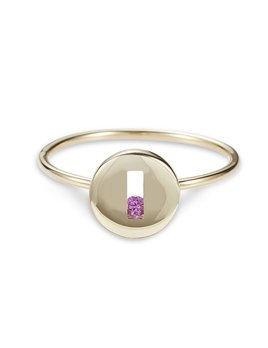 Rolling Rock Ring by Luke Rose - 9ct Yellow Gold - Available in Black, White, Pink, Blue, Yellow Sapphire, Tsavorite Garnet and Amethyst