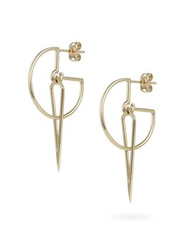 Sundial Hoop Earrings by Luke Rose - 9ct Yellow Gold
